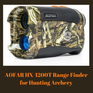 AOFAR HX-1200T Range Finder for Hunting Archery, 1200 Yards with Angle and Horizontal Distance, Shooting Wild Waterproof Coma Rangefinder, 6X 25mm Range and Bow Mode