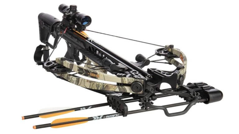 BearX Intense Ready to Shoot Crossbow Package with Scope, Quiver, Bolts, Cocking Rope, and Wax