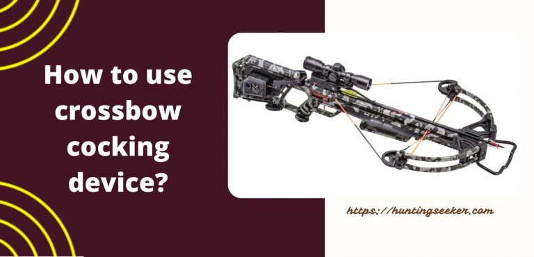 how to use crossbow cocking device